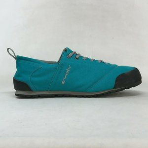 Evolv Womens Cruzer Psyche Teal Canvas Sneaker Shoes Lace Up Size W 9.5 M 8.5
